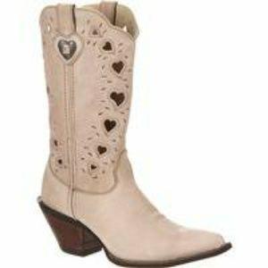 NWOT Crush by Durango Scallop Heart Lace Cut Boot